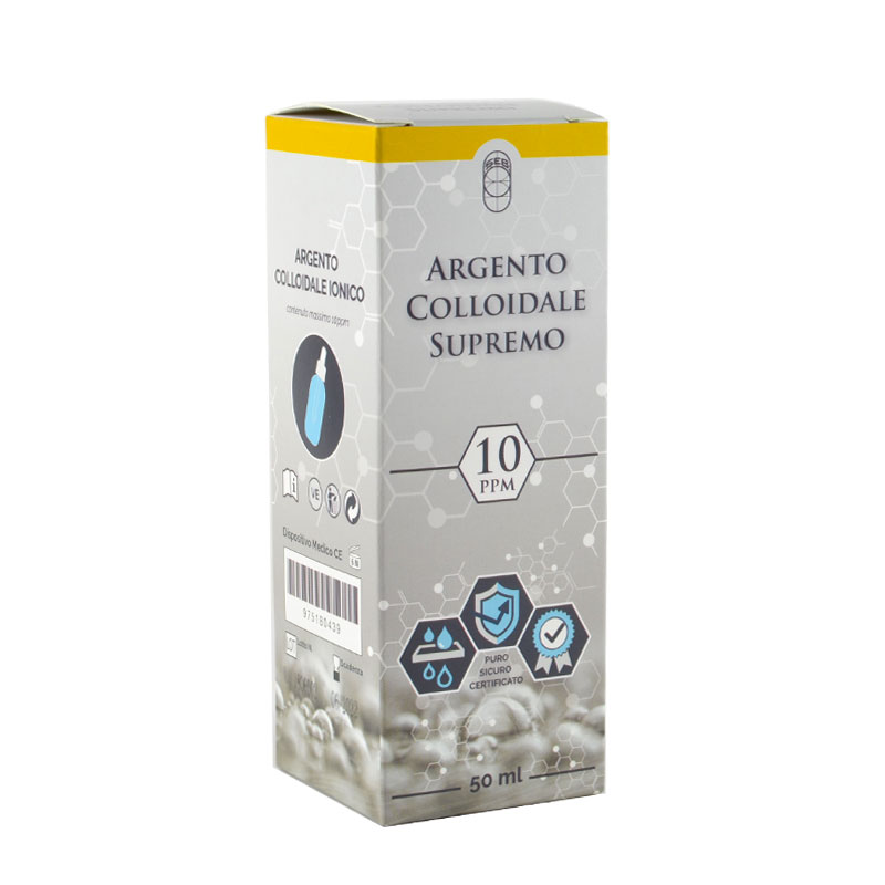 argento colloidale ionico supremo 10ppm 50 ml
