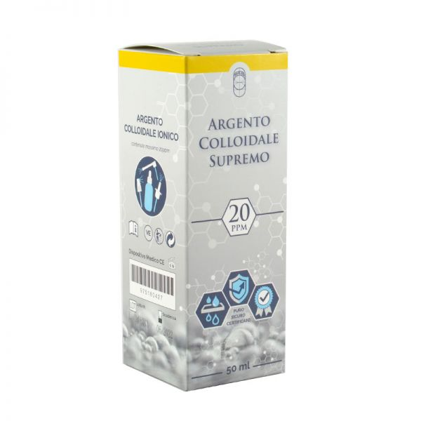 argento colloidale ionico supremo 20ppm 50ml