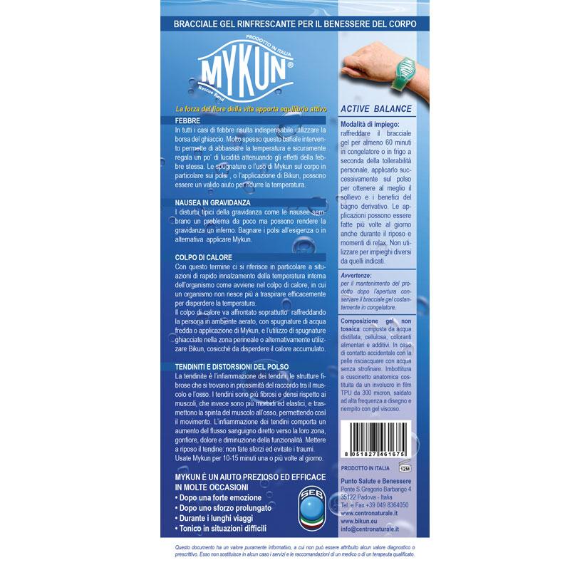 Mykun - Bracciale gel rinfrescante e lenitivo - Punto Salute e Benessere